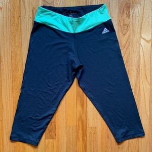 GRAY ADIDAS WORKOUT/RUNNING LEGGINGS